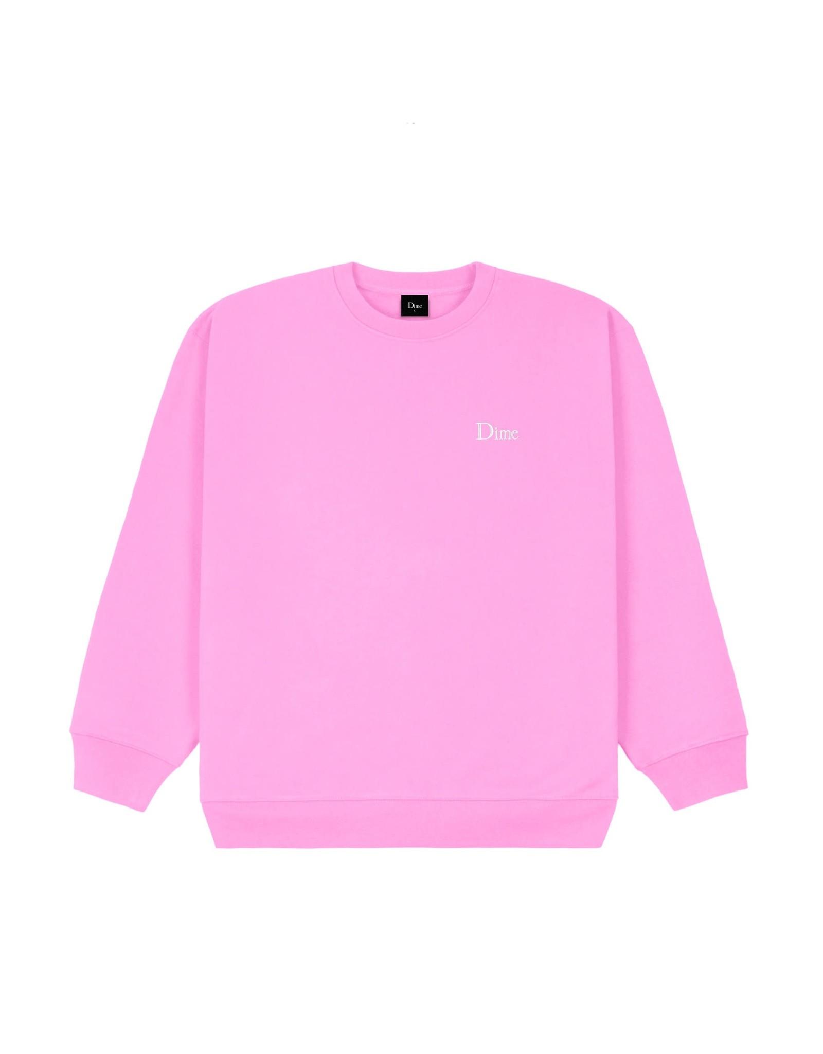 Dime Small Logo Crewneck - Light Pink