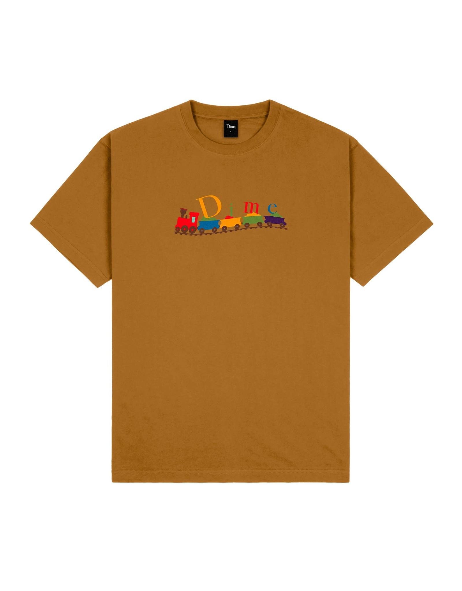 Dime Classic Train T-Shirt - Coffee