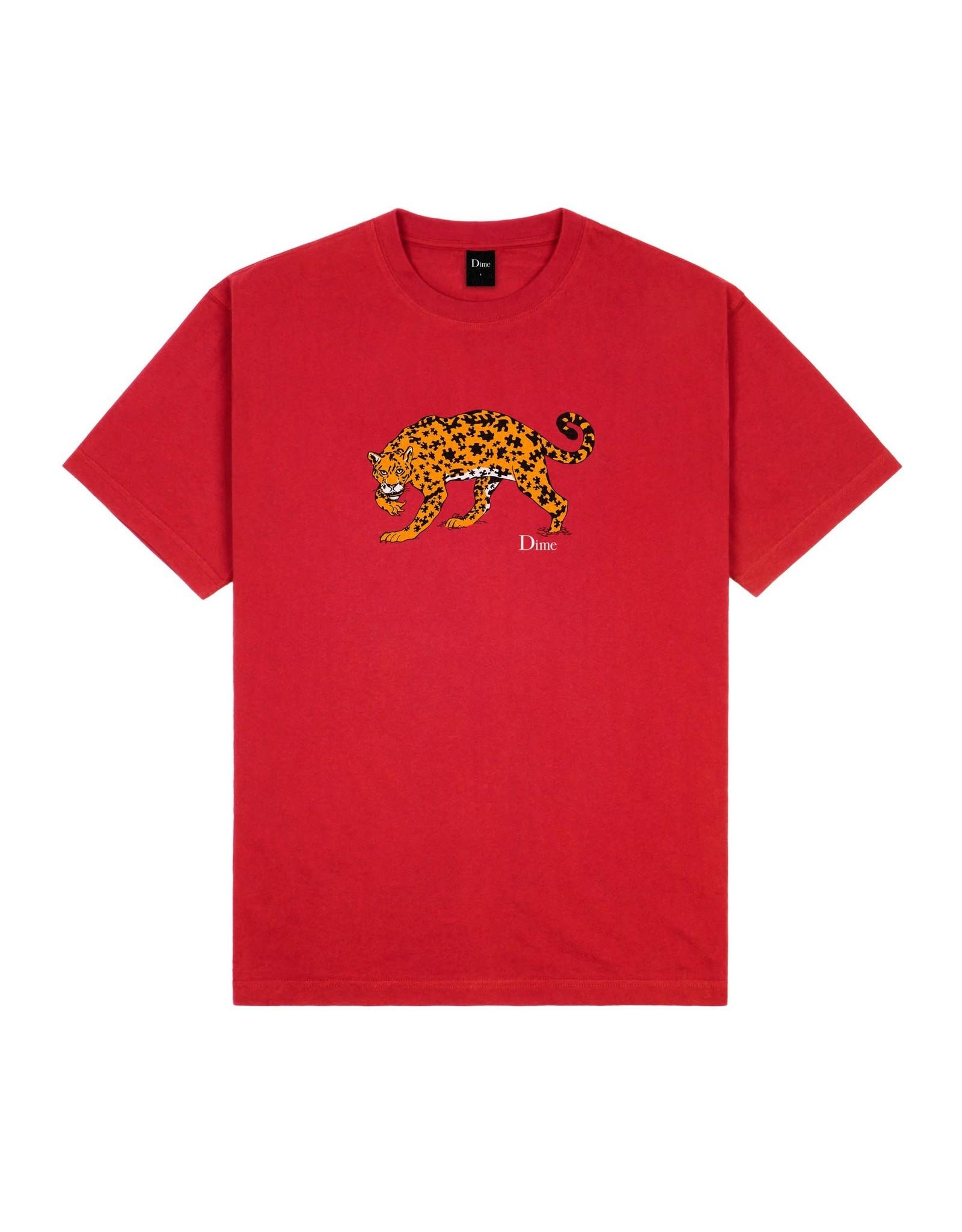 Dime Puzzle Cat T-Shirt - Cherry