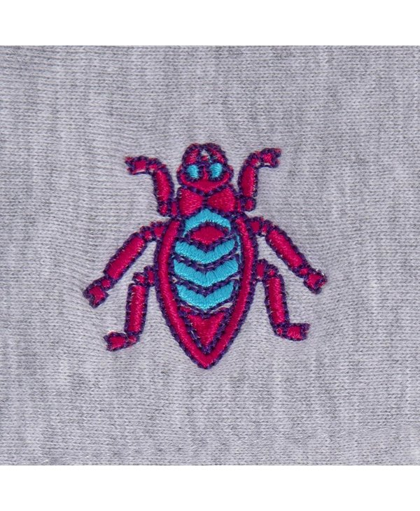 Bugged Out Broadway Hoodie - Heather Grey