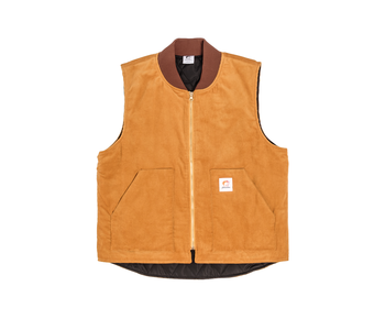 Work Less Cordoroy Vest - Caramel
