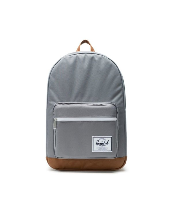 Pop Quiz Backpack - Grey/Tan Synthetic Leather