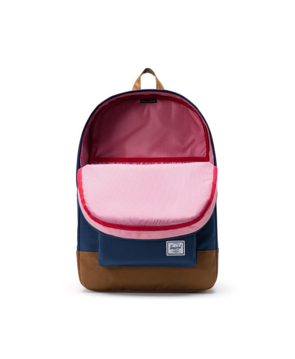Heritage Backpack - Navy/Tan Synthetic Leather