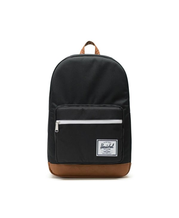 Pop Quiz Backpack - Black/Tan Synthetic Leather