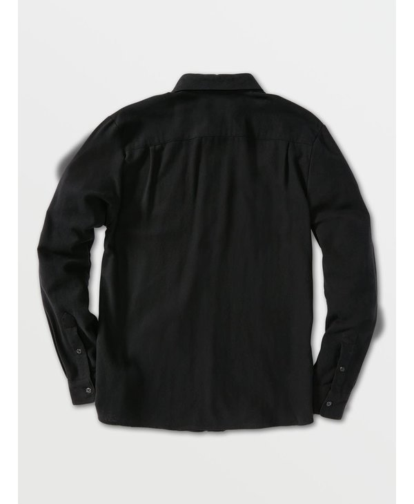 Caden Solid Long Sleeve Shirt - Black