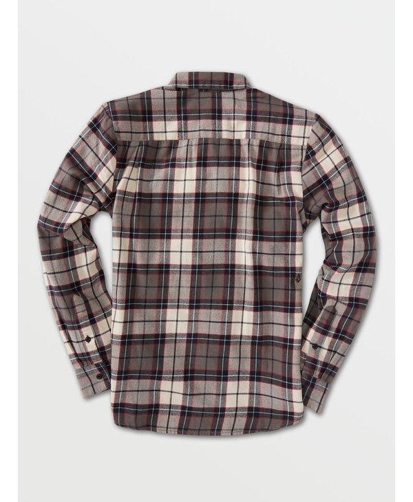 Caden Plaid Long Sleeve Flannel - Bleached Sand
