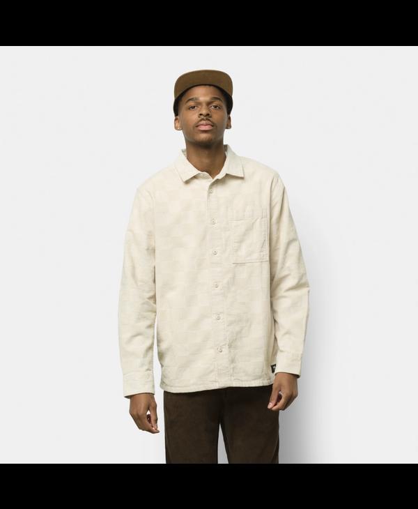 Morton Checkerboard Corduroy Buttondown Shirt - Oatmeal