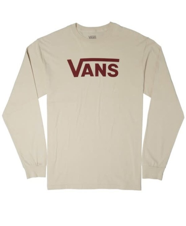 Classic Long Sleeve Shirt - Oatmeal/Pomegranate