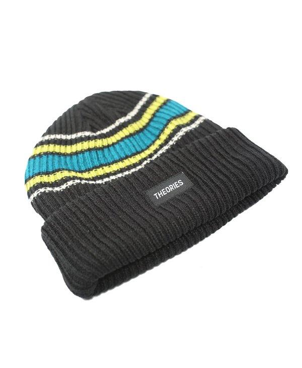 Burst Stripe Beanie - Black
