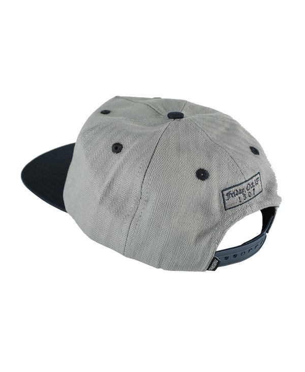 Secretum Herringbone Snapback - Grey/Navy