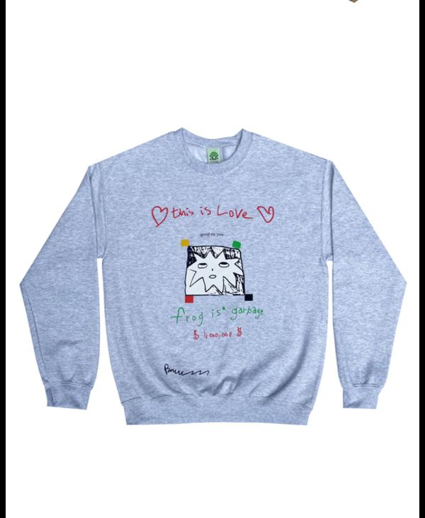 Frog Is Garbage Sweater - Ash Grey