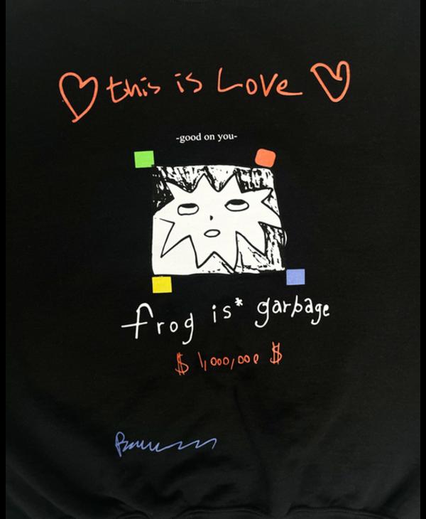 Frog Is Garbage Sweater - Black