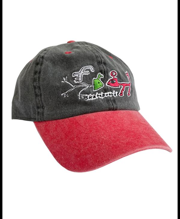 Frog Exists! Hat - Black/Red