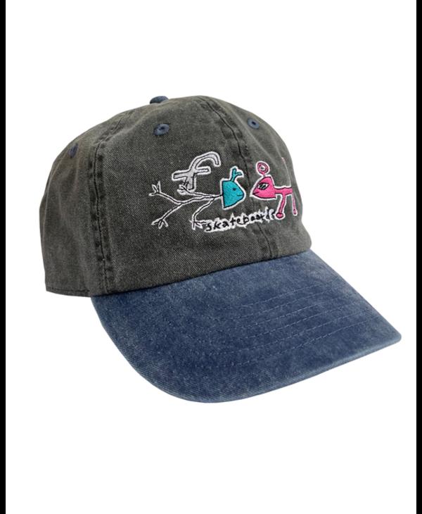 Frog Exists! Hat - Black/Blue