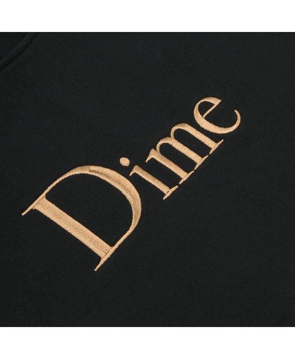 Classic Embroidered Crewneck - Black