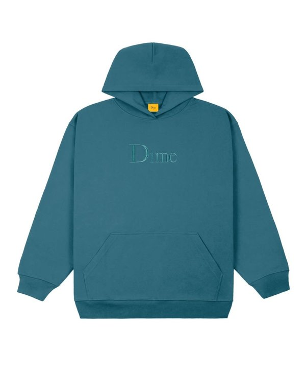 Classic Embroidered Hoodie - Real Teal