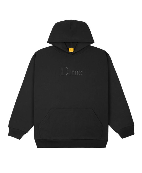 Classic Embroidered Hoodie - Black