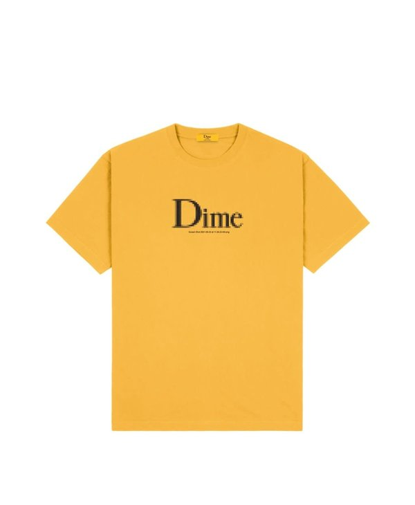 Dime Classic Screenshot T-Shirt - Dark Yellow