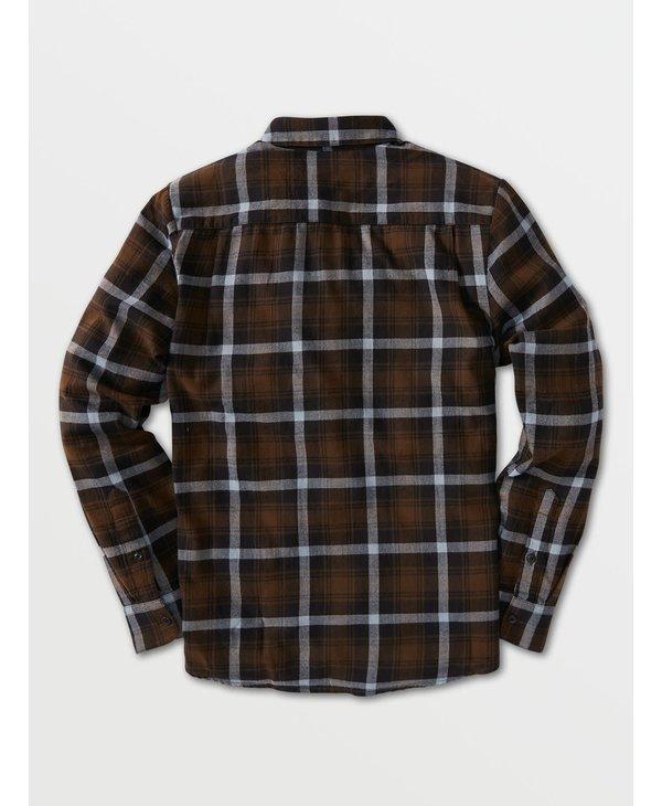 Caden Plaid Long Sleeve Flannel - Wren