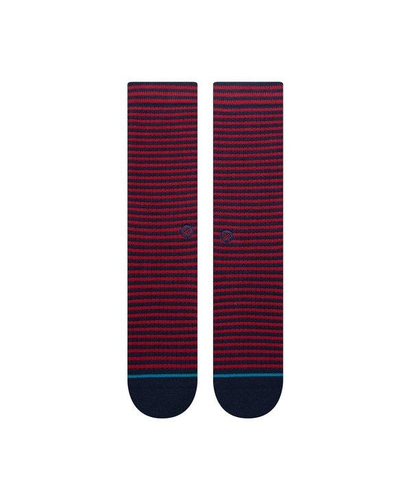 Hyper Stripe Crew Socks - Navy
