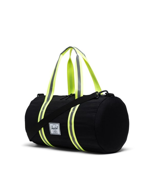 Sutton Duffle | Mid-Volume - Black Ripstop/Safety Yellow
