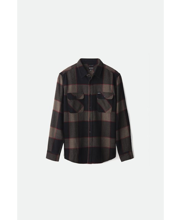 Bowery L/S Flannel - Heather Grey/Charcoal