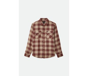 Bowery Soft Weave L/S Flannel - Vanilla/Dark Brick