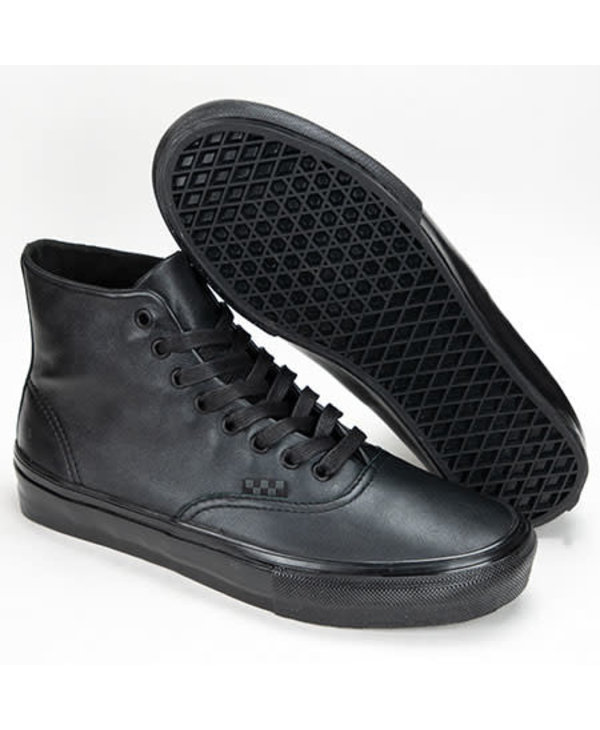 Skate Authentic High - Black Pearl Leather