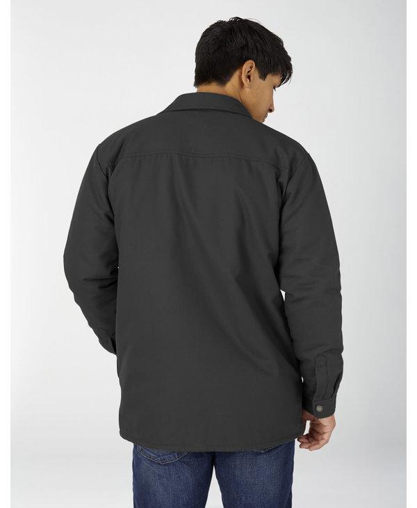 Flannel Lined Duck Hydroshield Jacket - Black