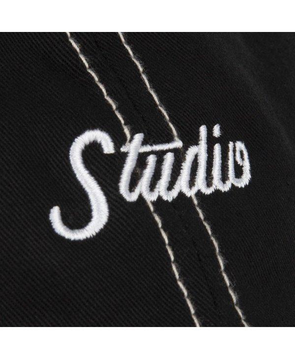 Small Script 6 Panel Hat - Black/White