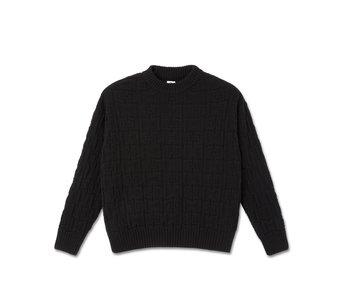Square Knit Sweater - Black
