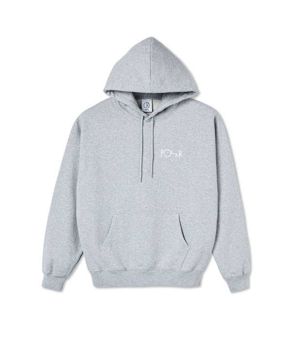 3 Tone Fill Logo Hoodie - Sport Grey