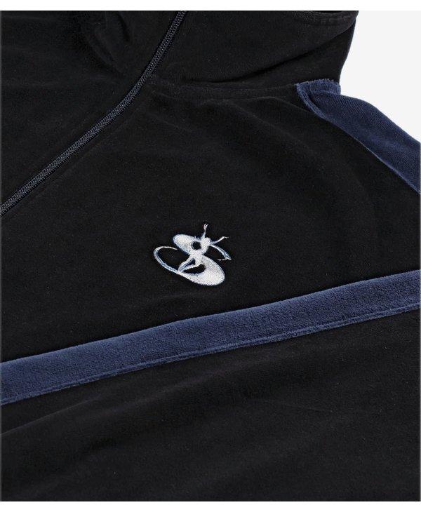 Milano Velour Track Jacket - Navy