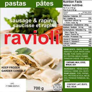 Ricos Ricos Sausage & Rapini Rav