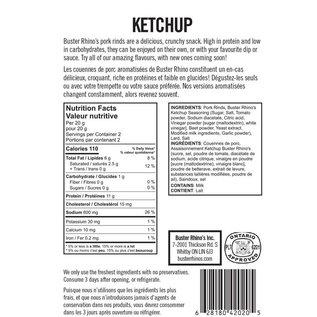 Buster Rhinos Pork Rinds Ketchup