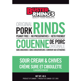 Buster Rhinos Pork Rinds Sour Cream & Chives