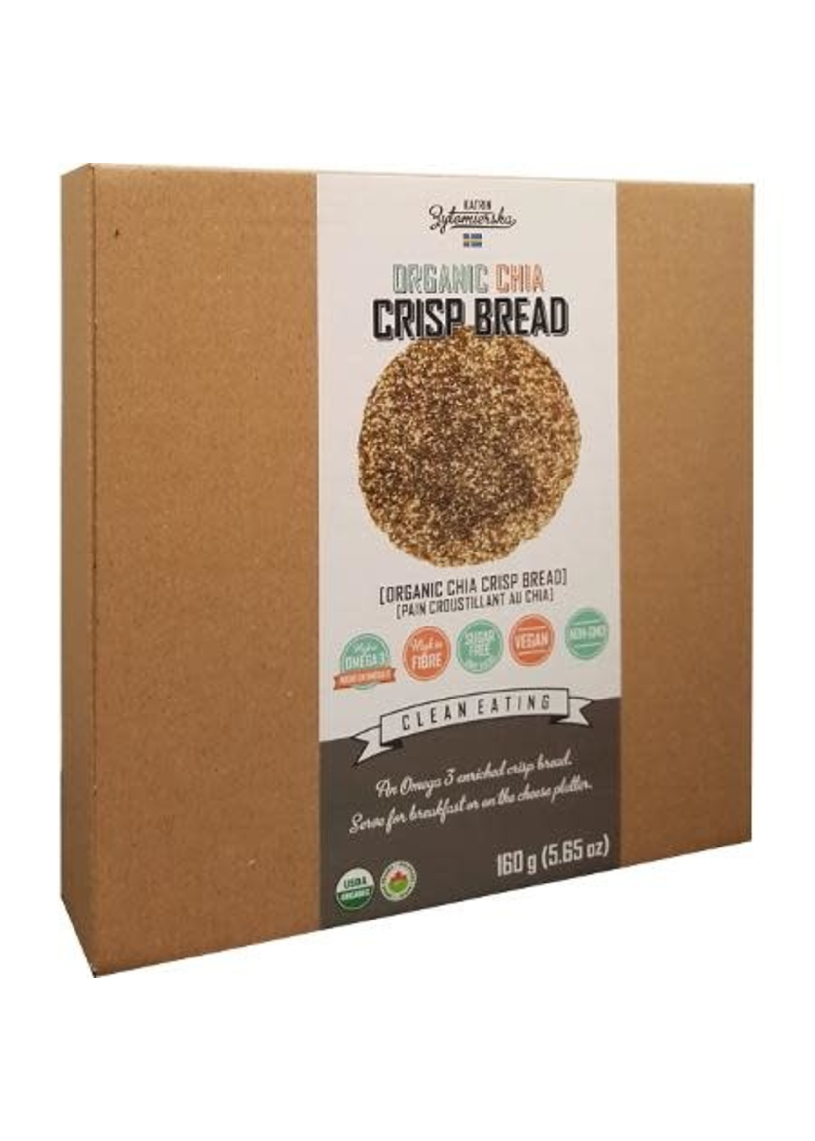 KZ Clean Eating Organic Chia Crisp Bread