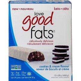 Love Good Fats Good Fats Cookies & Cream Bar