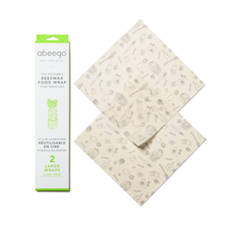Abeego Beeswax Food Wrap Abeego- Large Wraps (2)