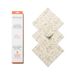 Abeego Beeswax Food Wrap Abeego- Medium Wraps (3)