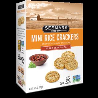 Sesmark Mini Rice Crackers Black Bean Salsa