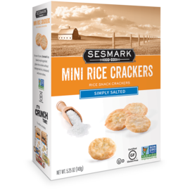 Sesmark Mini Rice Crackers Salted