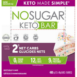 Keto Made Simple NoSugar Keto Bar Birthday Cake