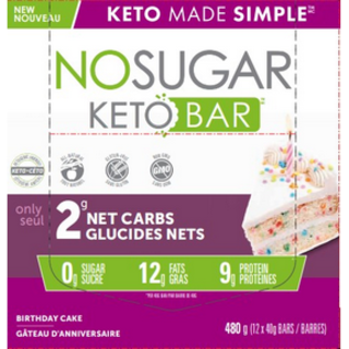 Keto Made Simple NoSugar Keto Bar Birthday Cake 4PACK