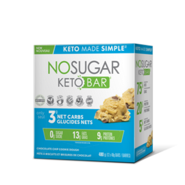 Keto Made Simple NoSugar Keto Bar Choc Chip Cookie Dough