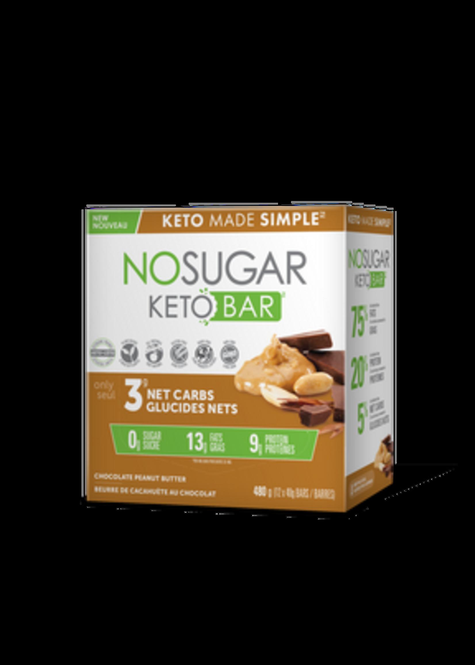 Keto Made Simple NoSugar Keto Bar Chocolate Peanut Butter