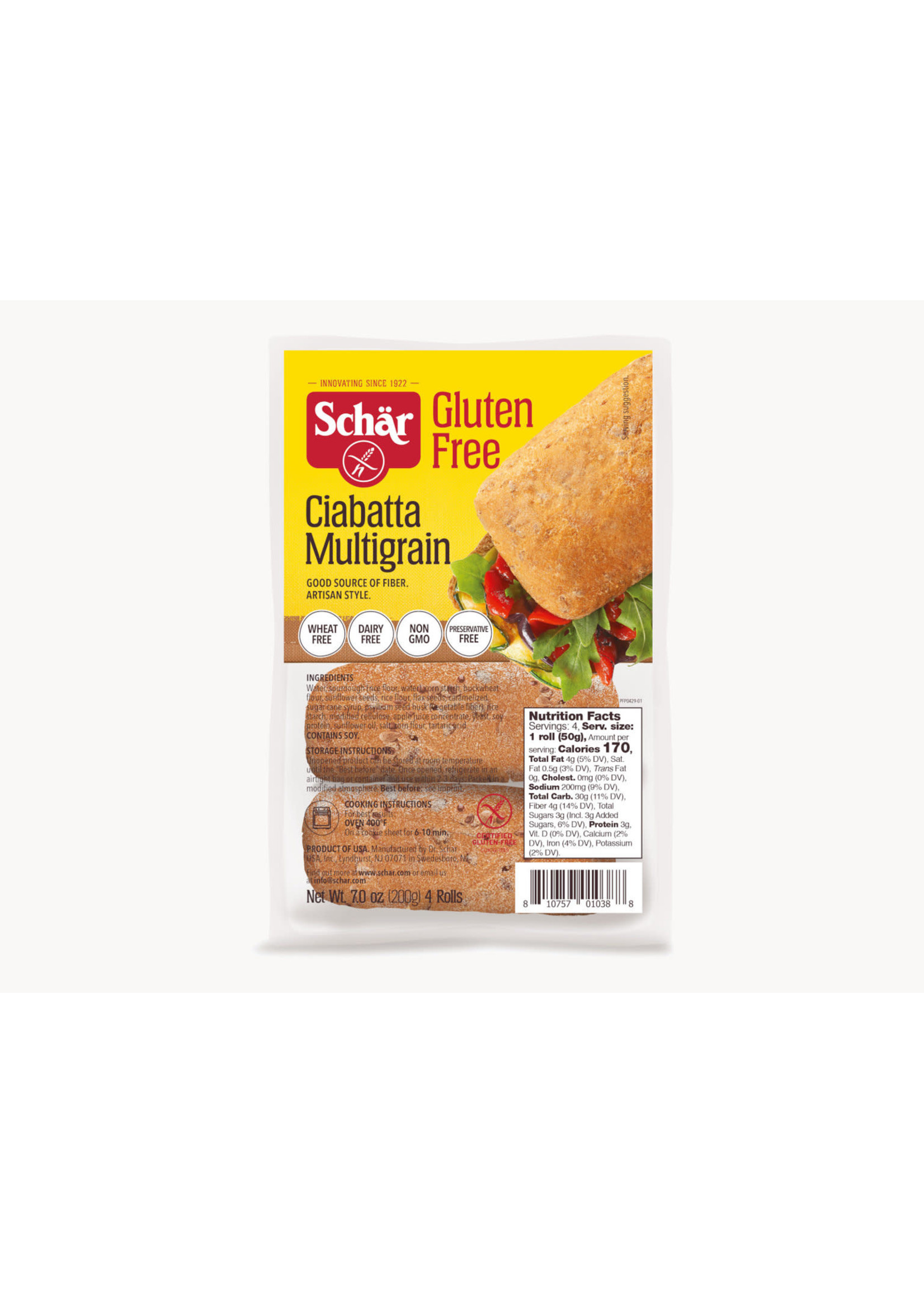 Schar Gluten Free Multigrain Ciabatta Buns Schar