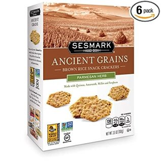 Sesmark Ancient Grains Parmesan Herb Rice Cracker