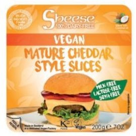 Sheese Vegan Cheddar Style Slices