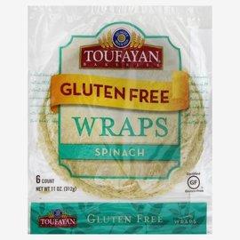 Toufayan Gluten Free Wraps Spinach